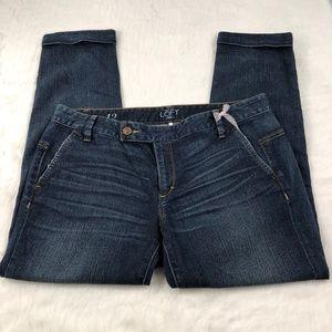NWT Loft Women's Cuffed Capri Pants Sz 12